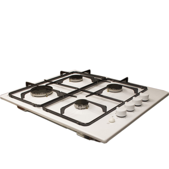 White 4-Burner Hob -0