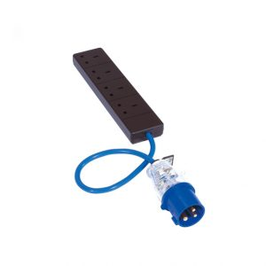 Fly lead 16A plug to 4 x 13A socket-0