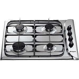 Stainless Steel 4 burner Hob Hotpoint-0